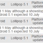 Xperia ZシリーズにAndroid 5.1が8月にリリースされる模様
